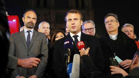 """""""Se ha evitado lo peor"""": Macron habla del incendio de la catedral de Notre Dame de París"""