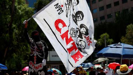 Una protesta de integrantes de la Coordinadora Nacional de Trabajadores de la Educación (CNTE) en Ciudad de México.