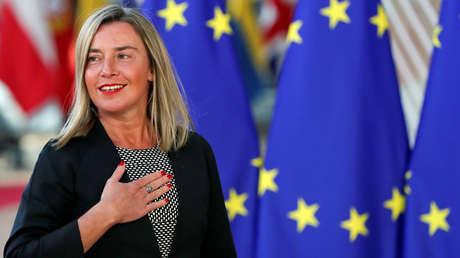 Federica Mogherini, Alta Representante de la UE para Asuntos Exteriores en Bruselas, (Bélgica), el 10 de abril de 2019.