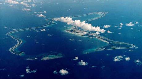 La isla Diego García, archipiélago de Chagos