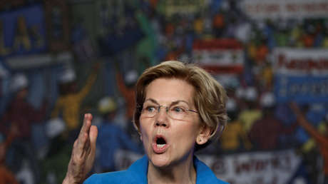 La candidata presidencial demócrata y senadora estadounidense, Elizabeth Warren.