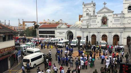 El santuario de San Antonio, en la ciudad de Colombo, Sri Lanka, sacudido por una explosión el 21 de abril de 2019.