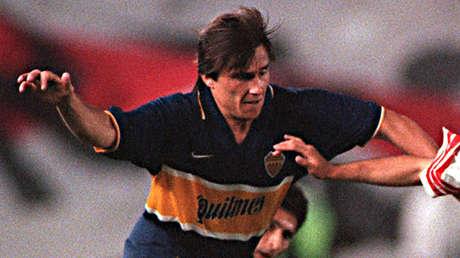 Julio César Toresani durante su etapa en el Boca Juniors argentino.