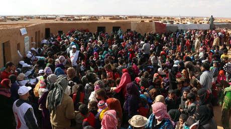 Refugiados sirios en el campo de Rukban, Homs, Siria, 5 de noviembre de 2018.