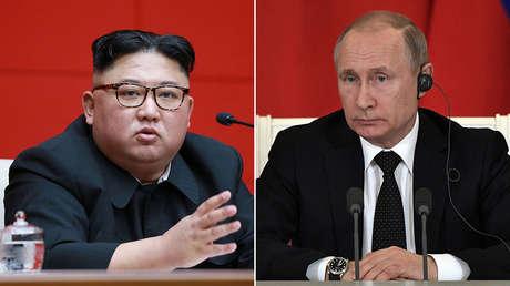 Kim Jong-un y Valdímir Putin.
