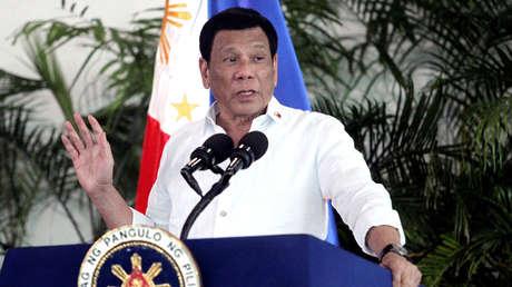 El presidente de Filipinas, Rodrigo Duterte, en Davao, el 8 de septiembre de 2018