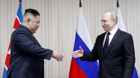 Vladímir Putin se reúne con Kim Jong-un en Vladivostok, Rusia, el 25 de abril de 2019
