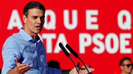 El presidente español, Pedro Sánchez, en el mitin de cierre de la campaña electoral. Madrid, 26 de abril de 2019.