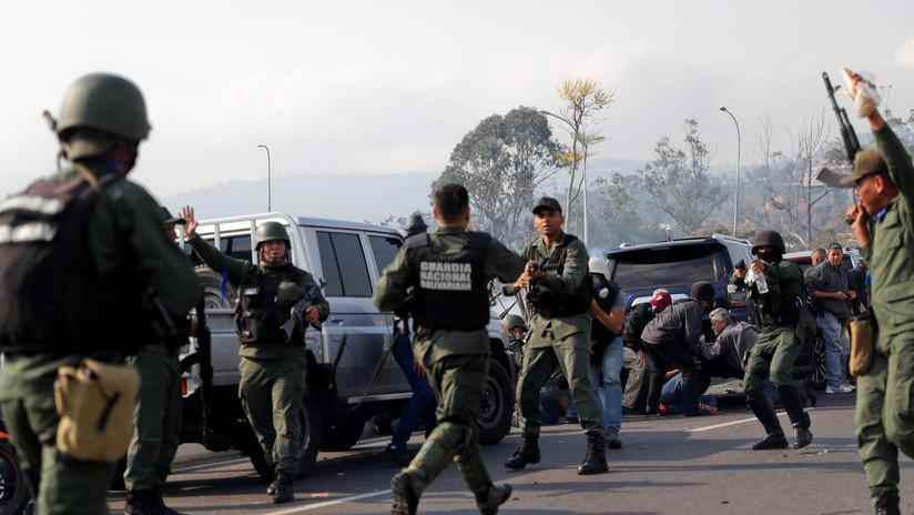 Caracas: Al menos 8 militares resultaron heridos en las protestas