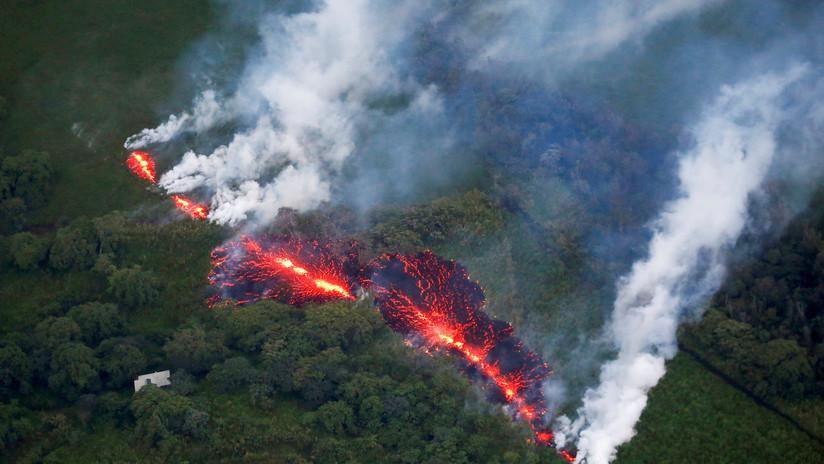 VIDEO: Un dron registra las consecuencias de la erupción del volcán Kilauea en su primer aniversario