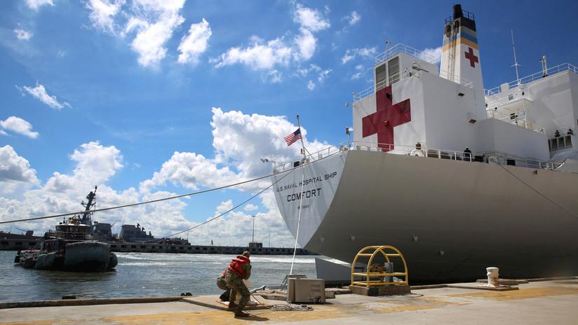 """El Pentágono se dispone a enviar a Colombia un buque hospital para """"ayudar a los refugiados venezolanos"""""""