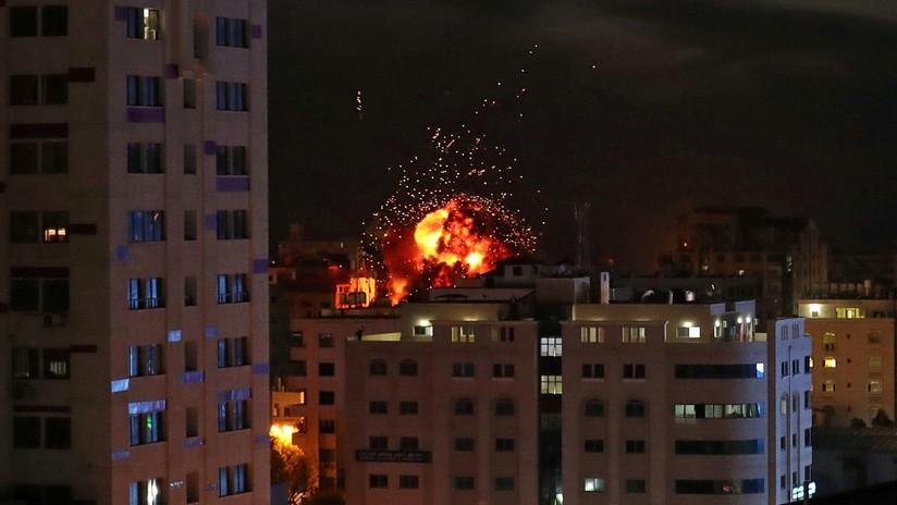 VIDEO: El momento exacto de uno de los ataques de Israel contra un objetivo en Gaza