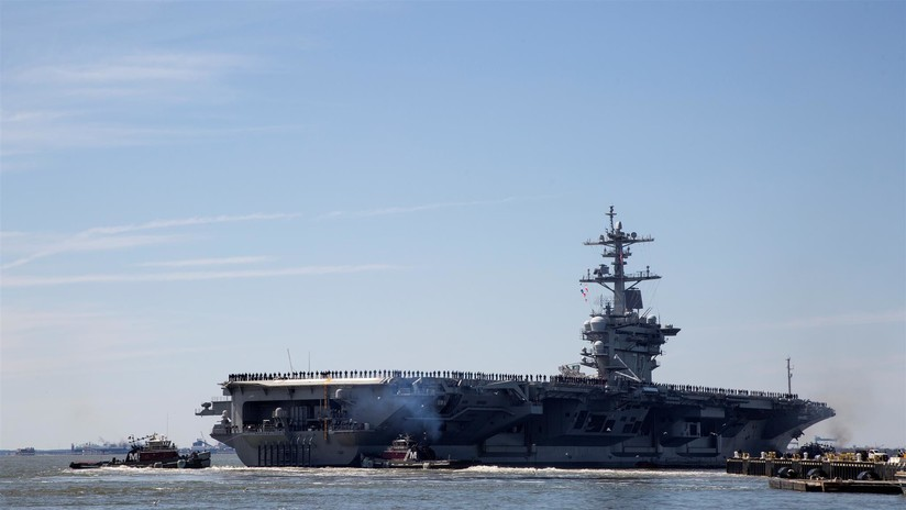 """Irán culpa a Bolton de usar el despliegue de portaviones como parte de """"una guerra psicológica"""""""