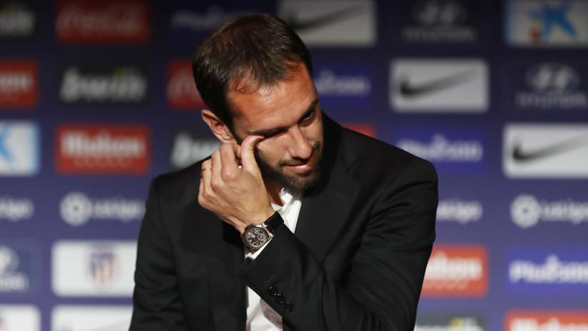 Diego Godín anuncia entre lágrimas que deja el Atlético de Madrid