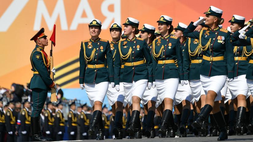 Último ensayo del desfile militar en Moscú de cara al Día de la Victoria