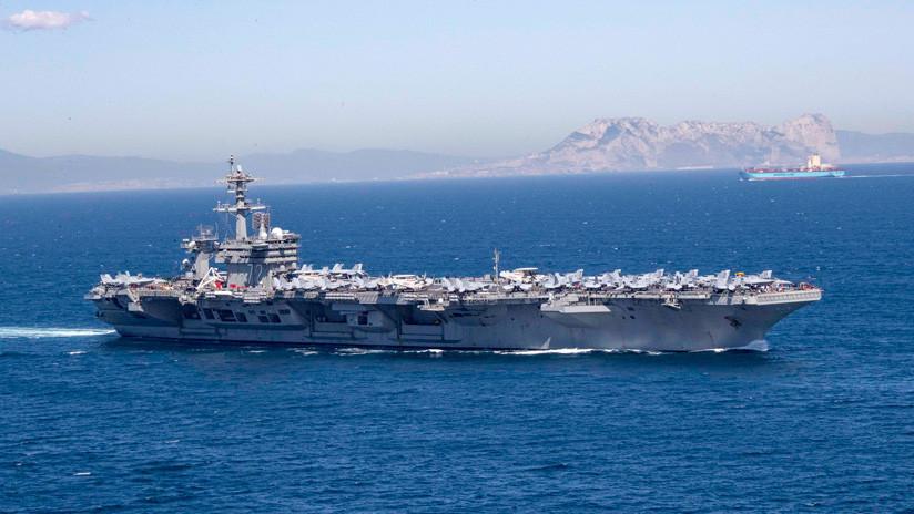 ¿Cómo justificó EE.UU. el envío de su portaviones a Oriente Medio y cómo explica Irán este despliegue?