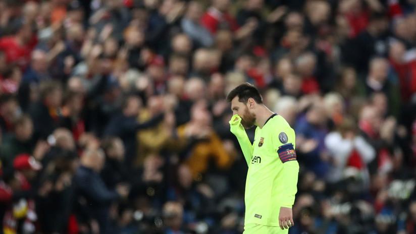 Reportan que Leo Messi rompió a llorar tras la derrota del Barcelona ante el Liverpool