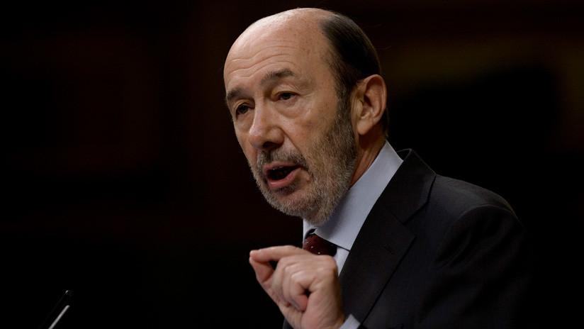 El exministro de Interior de España Alfredo Pérez Rubalcaba en estado grave tras sufrir un ictus
