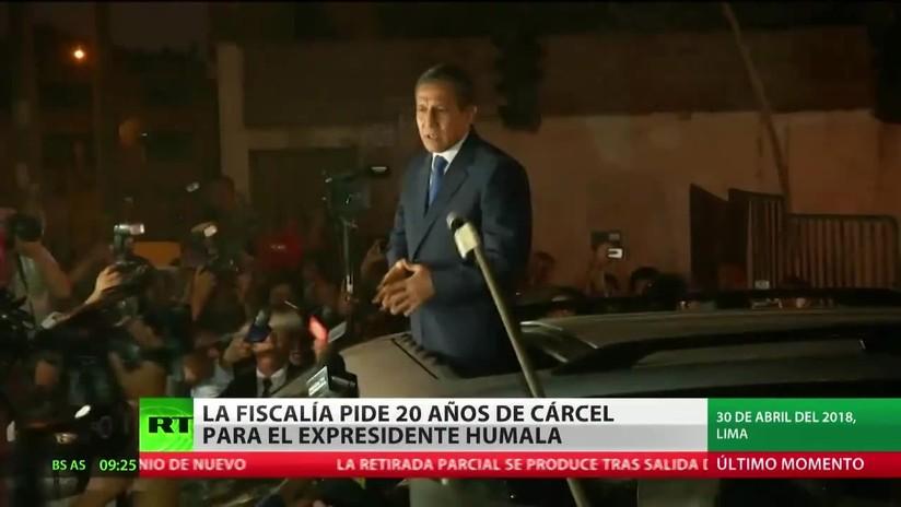La Fiscalía peruana pide 20 años de prisión para el expresidente Ollanta Humala por lavado de activos