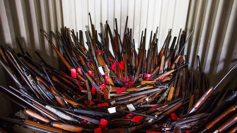 Recuperan más de mil armas de una vivienda en EU