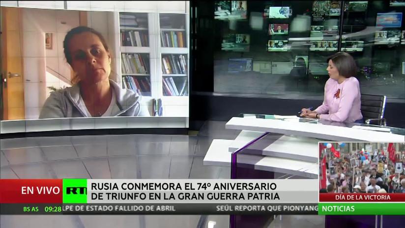 """Experta: """"Se debe conocer lo mucho que sufrió el pueblo soviético en la Segunda Guerra Mundial y en ningún caso no reconocerlo"""""""