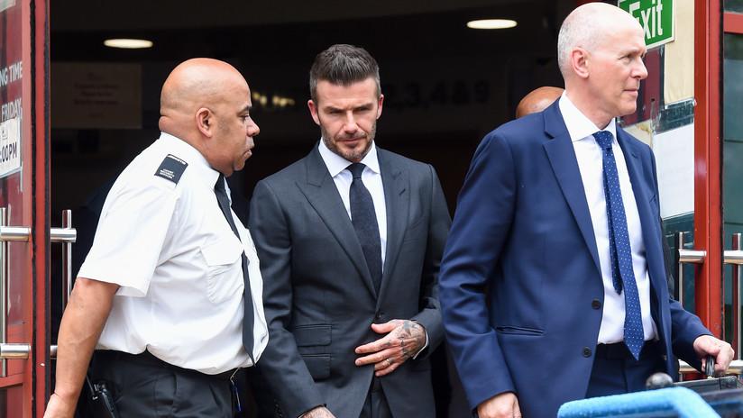 Retiran seis meses el carné de conducir a David Beckham