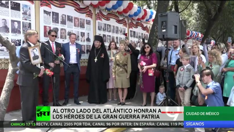 México se suma a los homenajes al Regimiento Inmortal y recuerda a los héroes de la II Guerra Mundial con una 'Muralla de la memoria'