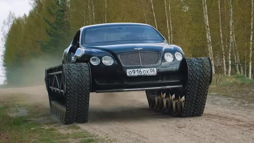 VIDEO: Entusiastas rusos transforman un coche Bentley en un tanque de lujo