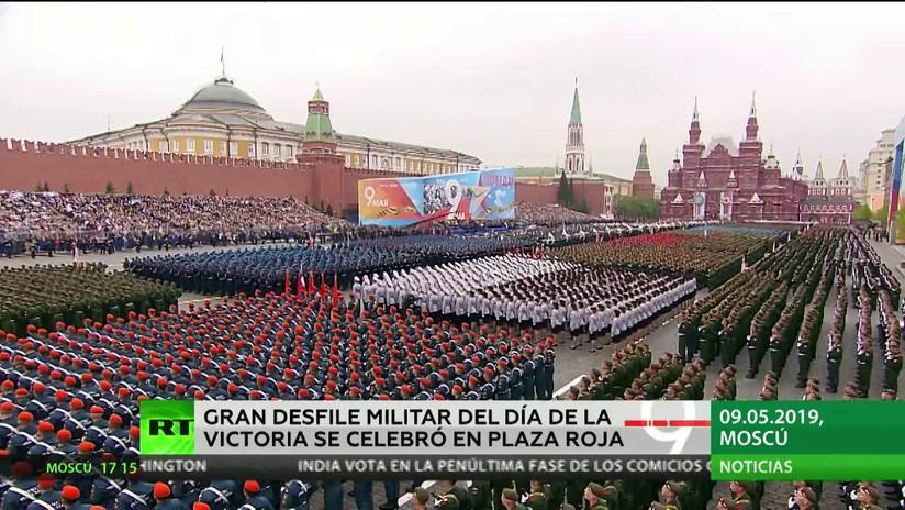 La Plaza Roja de Moscú acogió el gran desfile militar en honor al Día de la Victoria en la Gran Guerra Patria