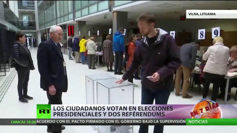 Lituania celebra elecciones presidenciales y dos referéndums