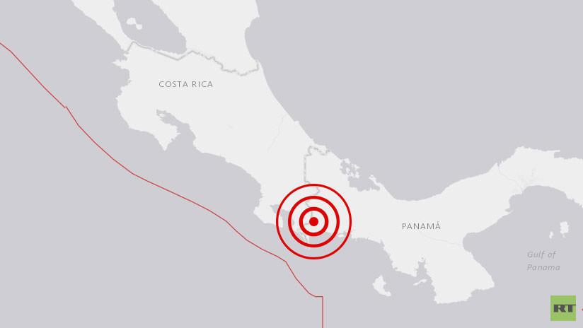 Se registra sismo de magnitud 6,1 en la frontera de Panamá y Costa Rica