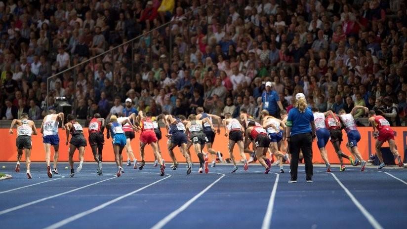 VIDEO: Un corredor se lanza a lo Superman para llegar primero a la meta