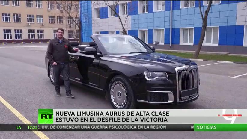 La nueva limusina rusa Aurus debutó en el desfile del Día de la Victoria