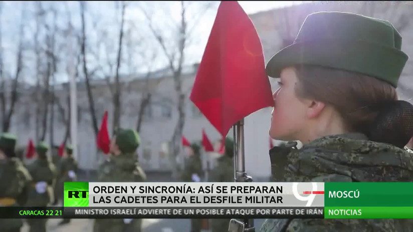 Orden y sincronía: Así se preparan las cadetes para el desfile militar del Día de la Victoria