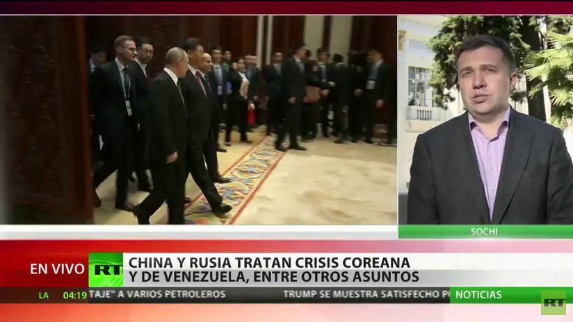 Rusia y China se reúnen para tratar las crisis coreana y de Venezuela