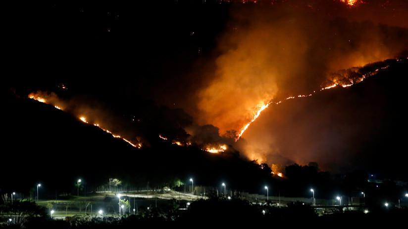 Así se ven los incendios forestales de Guatemala desde el espacio