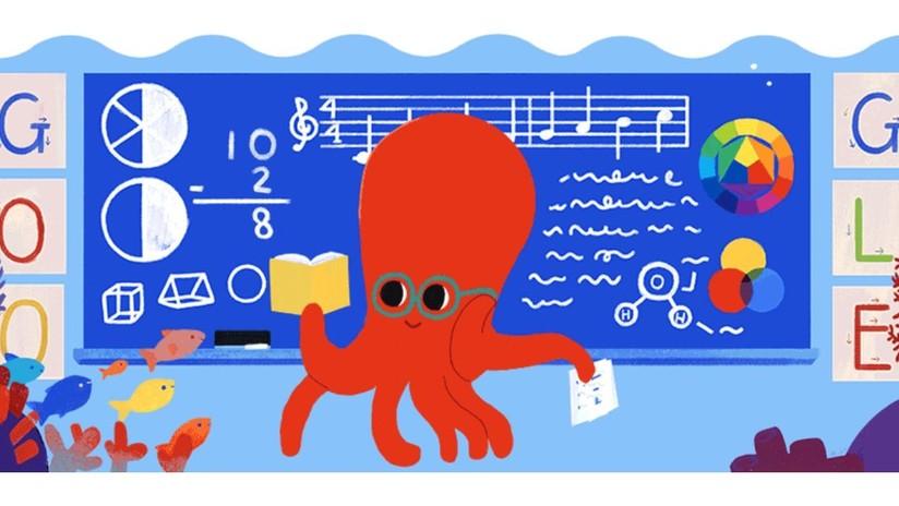 Google lanza un 'doodle' para celebrar el Día del Maestro en México, Colombia y Corea del Sur