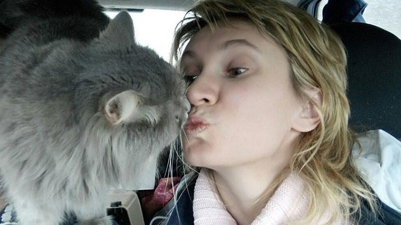 Un gato salva del coma y una posible muerte a su dueña embarazada que un día lo rescató de la vida callejera