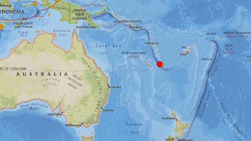 Un terremoto de magnitud 6,3 sacude Nueva Caledonia