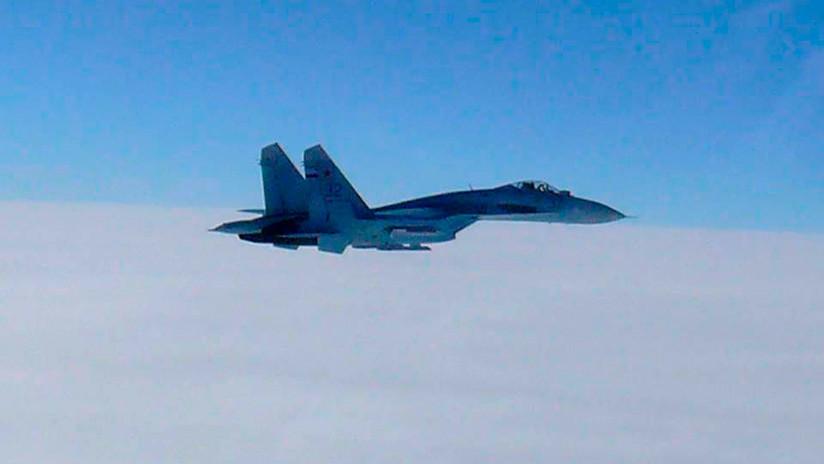 VIDEO: Cazas Su-27 de la Flota del Báltico rusa simulan interceptación de intrusos