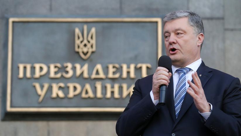 Inician una investigación preliminar por posible traición contra el expresidente de Ucrania, Piotr Poroshenko
