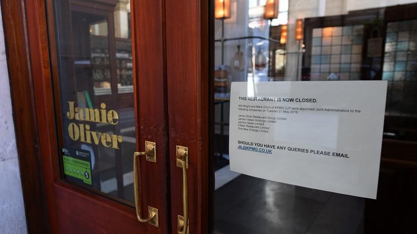 La cadena de restaurantes del famoso chef británico Jamie Oliver está al borde de la quiebra