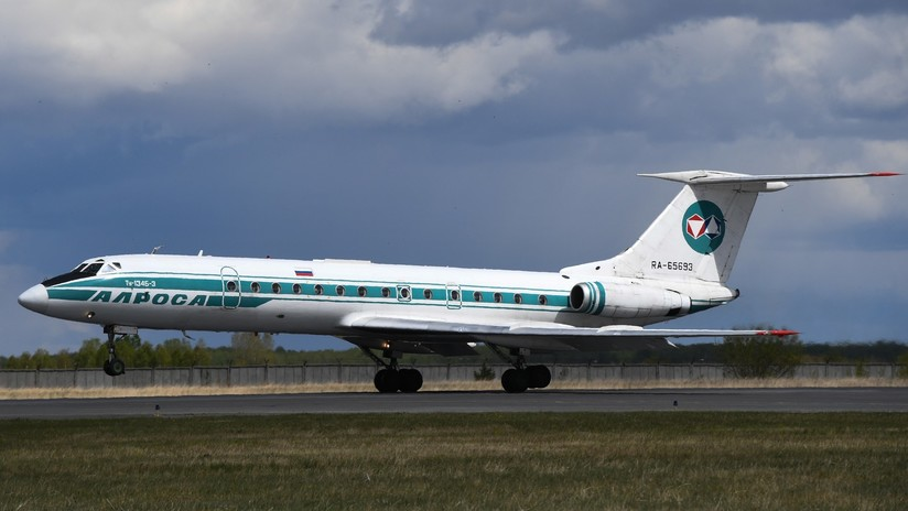 El icónico avión Túpolev Tu-134 realiza su último vuelo en Rusia