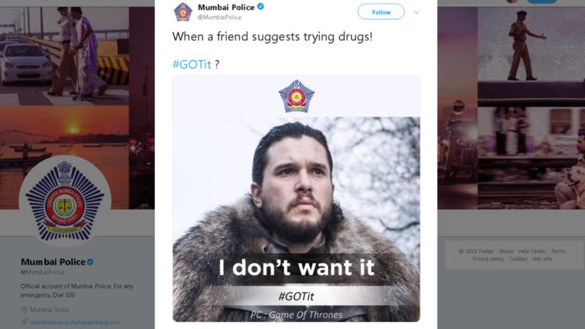 La Policía india 'recluta' a Jon Snow para una campaña contra las drogas