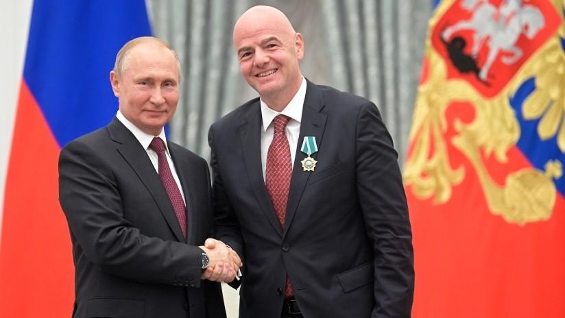 """Infantino: """"El Mundial en Rusia fue el mejor de la historia"""""""