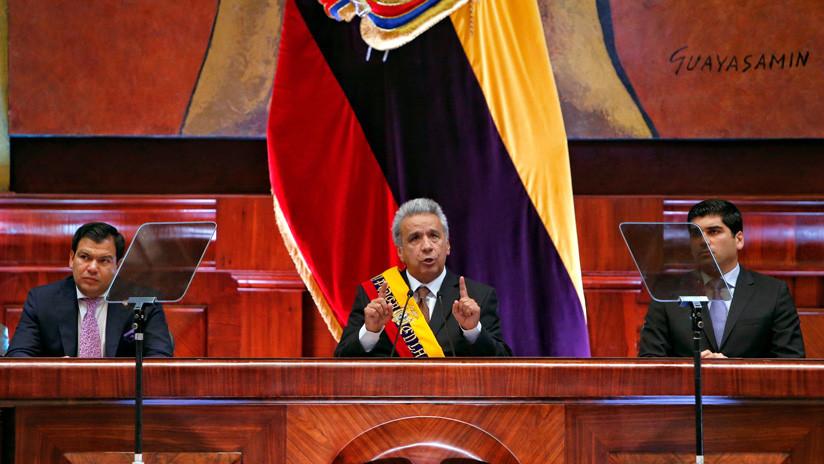 Lenín Moreno ofreció su segundo Informe a la Nación en medio de protestas