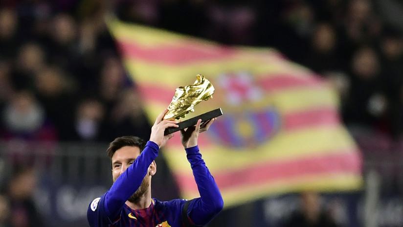 Messi sigue rompiendo récords y logra su sexta Bota de Oro como máximo goleador de Europa