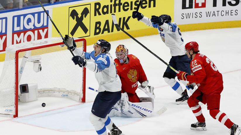 Rusia pierde ante Finlandia en la semifinal del Mundial de Hockey
