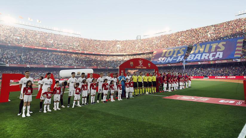 El Valencia vence al Barcelona 2 a 1 y se corona campeón de la Copa del Rey (MINUTO a MINUTO)
