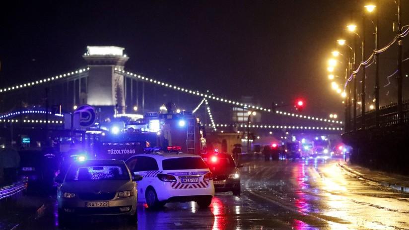 Hungría: 7 muertos al volcarse un barco fluvial turístico con decenas de personas a bordo